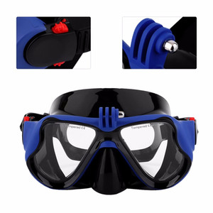 Wholesale-Hot Professional Underwater Camera Diving Mask Scuba Snorkel Swimming Goggles For Gopro Xiaomi Sjcam Sports Camera Sent From Ru