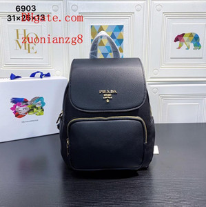 Wholesale backpack fashion bag men women Personality printing backpack soft leather authentic high quality canvas school zaino outdoor pra da1