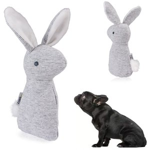 Wholesale pets rabbit for sale - Group buy Vocalization Pet Toy Rabbit Plush Stripe Small Bell Lovely Three Dimensional Kitty Doggy Toys New Pattern Hot Selling md J1
