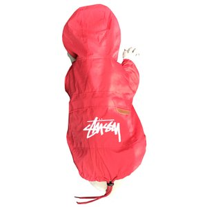 Wholesale Dog Hooded Clothes Summer Cat Sun Protection Clothing Rain Proof Silk Two Legged Jacket Quick Dryiny Red Black qx C1