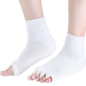 Wholesale 1Pair Five Toe Separator Massage Socks Sleeping Health Foot Care Relax Compression Sock Happy Feet Care