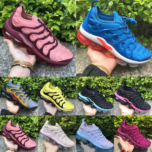 Wholesale 2019 New TN Plus Running Shoes Sunset Photo Blue Wolf Grey Volt Hyper Violet Mens Trainers Women Designer Sports Sneaker Size