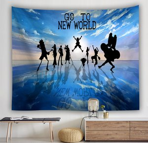 Wholesale 2019 Tapestry Wall Hanging Best selling digital printing tapestry hanging painting beach towel One Piece Anime background wall