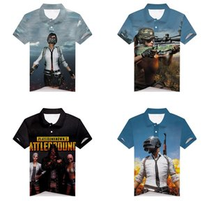 Wholesale Game PUBG Men's Shirt PlayerUnknown's Battlegrounds 3D Print Teenager golf shirt Short Sleeve tennis Summer Tops Tee