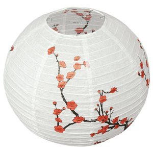 Wholesale HOT cm Lamp Shade Paper Lantern Oriental Style Light Decoration plum blossom D19010902