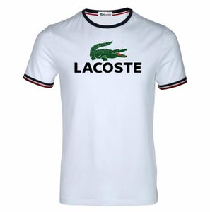 Wholesale Mens Business T shirt Brand Decoration France Designer Tops Crocodile Printing Minimalist Fashio Mens Round Neck T shirt Cotton Soft