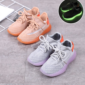 Noctilucent Sole Children Shoe Early Autumn Girl Catamite Sneakers Dad Girls Fashion Shoes on Sale