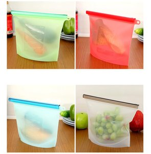 Wholesale Reusable Silicone Food Preservation Bag Airtight Seal Food Storage Container Versatile Cooking Bag Vacuum food storage bag 4 Colors