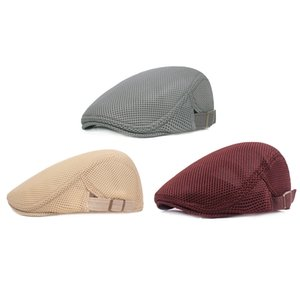 Wholesale Summer Beret Caps Men Women Vintage News Boy Cap Cabbie Gatsby Linen Outdoor Hats Sun Hat Unisex Duckbill Caps Peaked Breathable