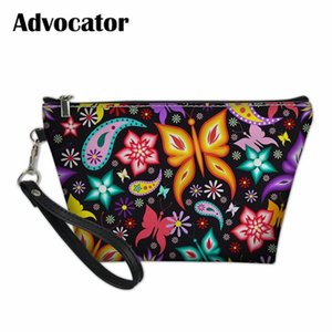 Wholesale ADVOCATOR Butterfly Pattern Cosmetic Cases Toiletry Bag Women Makeup Pouch TravelOrganizer Cosmetiquero Mujer Handbag Bentoy