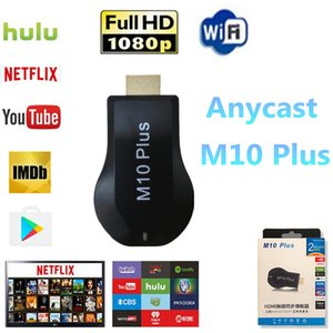 1pcs AnyCast M10 Plus WiFi Display Dongle Receiver for Chromecast Netflix Youtube 1080P HDMI TV DLNA Airplay Miracast for iOS Mac Android