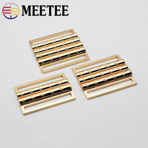 Meetee Gold Metal Belt Buckle 50mm Alloy Clip Hasp Clasp Decoration Buckles for Coat Clothing Bags Buttons Accessories on Sale