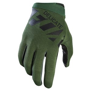 Wholesale NEW Delicate Raner Green MX Gloves Enduro Racing BMX Bicycle Moutain Bike Cycling Gloves