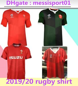 Wholesale 2019 rugby world cup RWC Wales rugby jerseys Home Shirt top jerseys shirt Wales rugby jerseys red men shirt size S XL