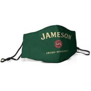 Women Men Face Mask Dust Mask Muffle Jameson Irish Whiskey john jameson son limited Printed With Adjustable Ear Hook Mask