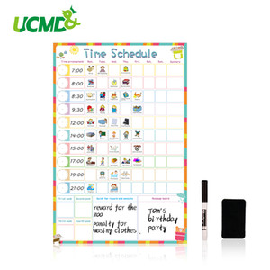 Wholesale Magnetic Erasable Kid Weekly Schedule Calendar Daily Planner Drawing Time Schedule Writing To Do List Reward Chart Wall Stickers