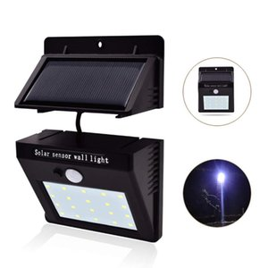 Wholesale 20LED Split Solar Light Outdoor Waterproof Motion Sensor Wall Light with Automatic On Off Garden Deck Courtyard Garden White light