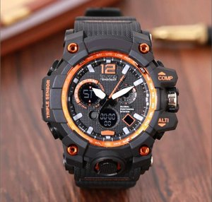 Wholesale Fashion Arrival Mens G Style Military Wristwatches Multifunction LED Digital Shock Quartz Sport Watches for Men Male Students Watch