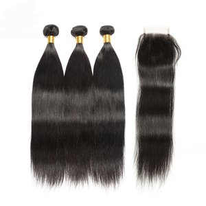 Wholesale Grade 8A Products Malaysian Peruvian Brazilian Virgin Hair Straight Brazilian Straight Human Hair Bundles Mink Brazilian Hair Weave Bundles