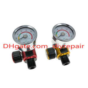Wholesale spray watch resale online - HVLP spray gun regulator watch air pressure adjustment regulator tail pressure gauge Paint spray gun regulator