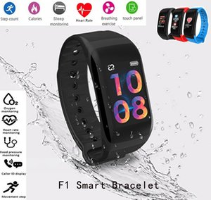 Wholesale Factory Outlet F1 Plus Color Screen Sports Smart Bracelet Blood Pressure Heart Rate Monitor Smart band Waterproof Fitness Tracker Wristband