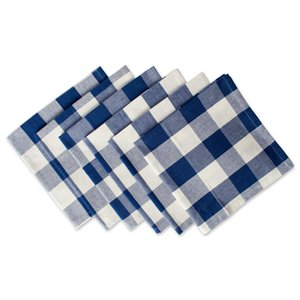 Cotton Buffalo Check Oversized Basic Cloth Napkin for Everyday Place Settings, Farmhouse Décor, Family Dinners, BBQ's, and Holidays on Sale