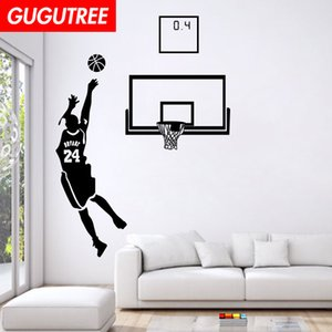 Wholesale Decorate Home basketball art wall sticker decoration Decals mural painting Removable Decor Wallpaper G-1566