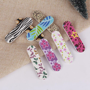 Wholesale Nail Polishing Tool Manicure Kit Wood EVA Nail Files DIY Fingernail Trimming Art Nail Sanding Paper Filing Sticks F3427