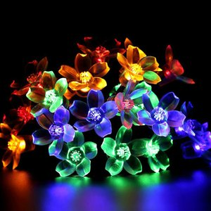 Wholesale NEW M led Solar String Lights Fairy Flower Blossom Outdoor Christmas Decorative Light For Indoor Garden Party Xmas Tree Decor