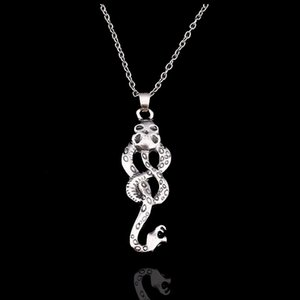 Wholesale New Trendy Movie Jewelry Harry Style Horcrux Snake Necklace Women Lady Antique Silver Snake Pendant Necklaces
