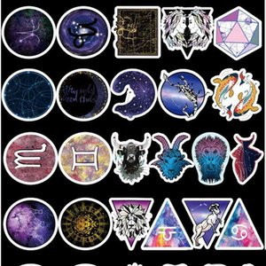 Wholesale 100 set Beautiful galaxy constellation Graffiti Sticker Waterproof Suitcase DIY Laptop Guitar Skateboard Toy Lovely Stickers