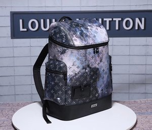 2018Free Shipping high quality genuine leather women's backpack BOSPHORE Backpack ladies backpack travel bags school bag M444689 on Sale
