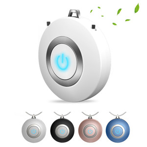 Wearable Air Purifier Necklace Mini Portable USB Air Cleaner Negative Ion Generator Low Noise Freshener Keep Health in Travel for Kids Adult