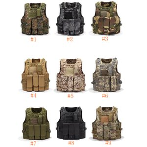 Wholesale Airsoft Tactical Vest Molle Combat Assault Plate Carrier Tactical Vest Colors CS Outdoor Clothing Hunting Vest ZZA661