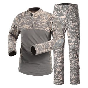 uniformes de caça venda por atacado-Ternos do esporte tático Outdoor Combate Camping caminhadas Uniforme Sports Army Combat Training Suit Sets Camouflage Caça