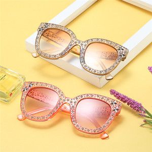óculos celebridades venda por atacado-2019 New Diamond cut Sun glasses Fashion Trend oceano Sunglasses Multicolor sem aro Web celebridade Rua Óculos