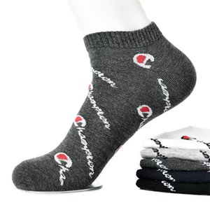 champion socks 5 Colors Champions Letter Printed Cotton Socks Big kids Teenagers Men Sports socks SS192 on Sale