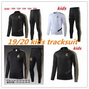 Wholesale 2019 Real Madrid kids TRACKSUIT TRAINING SUIT veste de football chandal HAZARD ASENSIO ISCO youth BOYS survêtement REAL MADRID