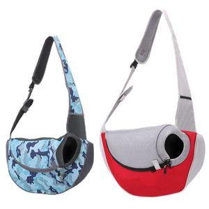 Pet Cat Dog Oxford Carrier Shoulder Bag Outdoor Portable Breathable Crossbody Pet Bag Sling For Outdoor Carrying