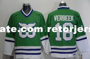 Wholesale 2018 Hartford Whalers Jerseys LIUT Ron Francis Green New Black Stitched C Patch Hockey Jersey