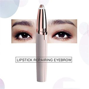 Wholesale Lipstick Eye Brows Hair Remover Micro Precision K Gold Plated Remover Epilator Eyebrow Trimmer Shaving Machine Razor Built iby boomboom