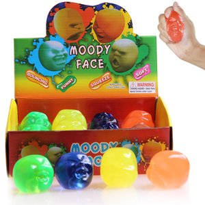 Wholesale Kawaii Moody Face Squishy Toys Baby Educational novelty Gadgets Human Face Ball Squeezes Decompression kids gifts Squishies Stress Reliever