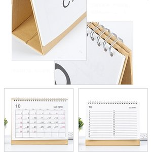 Wholesale 2019 Desktop Creative Office White Stand Simple Size Calendar Writable Weekly Planner Monthly List Plan Daily Calendar DH0645 T03