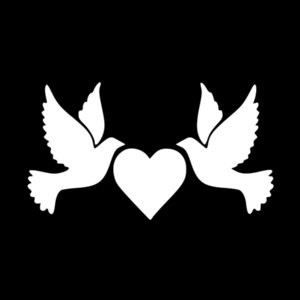 Wholesale faith hope love for sale - Group buy 16 cm Two Doves with Heart Faith Love Hope Vinyl Car Window Laptop Decal Car Accessories