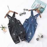 Wholesale Children clothing Kids Denim overalls Pants Abrasion Washed cotton Casual bib pants Buttons Boys girl pant Spring summer Autmn Summer