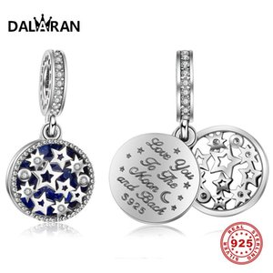 Wholesale DALARAN Starry Sky DIY Charms Sterling Silver Beads Fit Charm Bracelet Necklace Pendant For Women Jewelry Making Gift