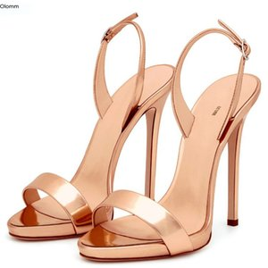 Rontic New Fashion Women Sandals Sexy Thin High Heels Shoes Nice Open Gorgeous 6 Colors Dress Shoes Women US Plus Size 4-10.5