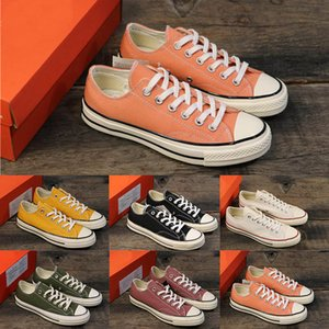 Wholesale Fashion Womens Casual Canvas Luxury Sports Shoes Mens Running Outdoors Designer Sneakers Trainers Orange White Black Shoes Size