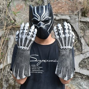 Wholesale 2pcs Pair Black Panther Claws Gloves Cosplay Costumes Avengers Infinity War Black Panther Gloves Latex Halloween Party Props