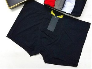 Wholesale Supply Men Sexy Underwear Cotton Boxers Cartoon Print Man Breathable Panties Solid Shorts Roma Underpants Short Pants Black White